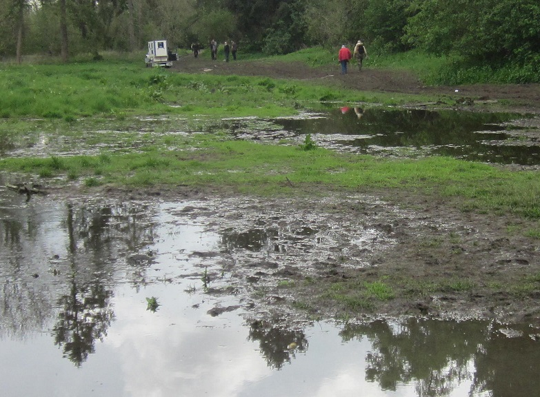 River Chess floods picnic area