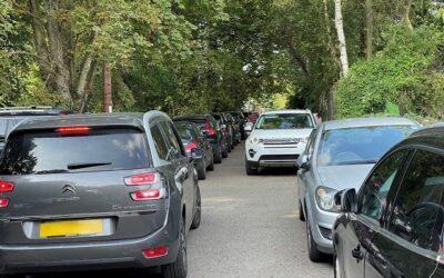 Traffic and Parking chaos at Chorleywood House Estate